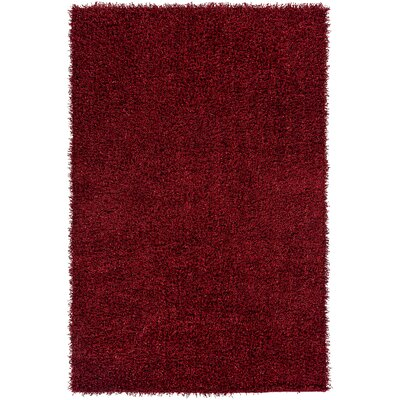 Mchaney Hand-TuftedRed Area Rug Rug Size: Rectangle 8 x 10
