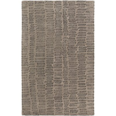 Mcnelly Gray & Charcoal Area Rug Rug Size: 2' x 3'