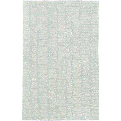 Mcnelly Hand-Tufted Moss/Ivory Area Rug Rug Size: Rectangle 5 x 76