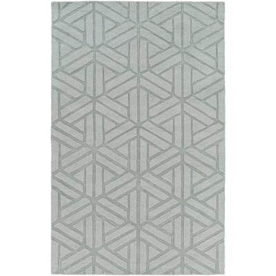 Mcnulty Hand-Loomed Gray Area Rug Rug Size: 33 x 53