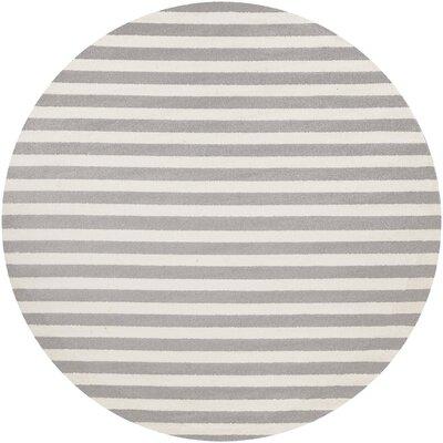 Eridani Ivory/Gray Area Rug Rug Size: Round 710