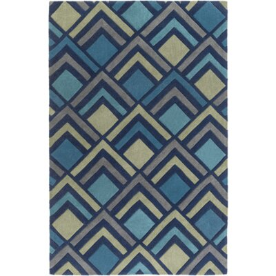 Mcgray Hand-Tufted Navy Area Rug Rug Size: Rectangle 36 x 56