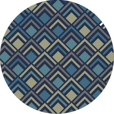 Mcgray Hand-Tufted Navy Area Rug Rug Size: Round 8