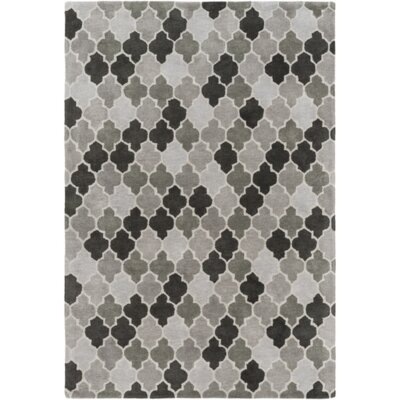Elektra Hand-Tufted Light Gray/Moss Area Rug Rug Size: 36 x 56
