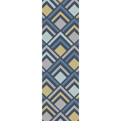 Mcgray Hand-Tufted Blue Area Rug Rug Size: Rectangle 8 x 11