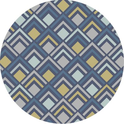 Mcgray Hand-Tufted Blue Area Rug Rug Size: 36 x 56