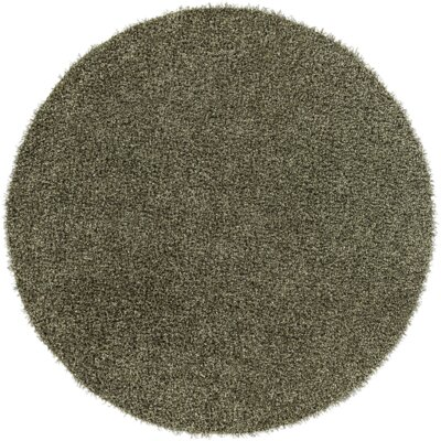 Mchaney Hand-Tufted Green Area Rug Rug Size: Round 8
