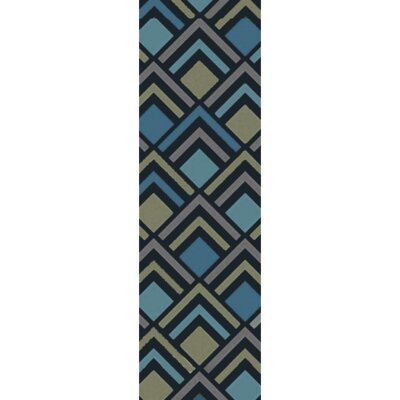 Mcgray Hand-Tufted Navy Area Rug Rug Size: Runner 26 x 8