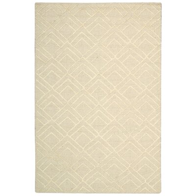 Strata Hand-Tufted Ivory Area Rug Rug Size: Rectangle 4 x 6