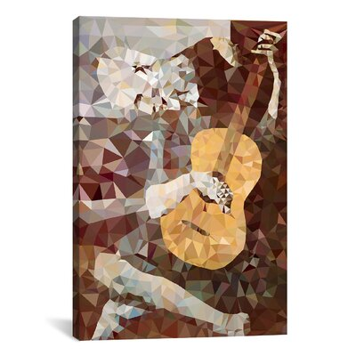 Old Guitarist Derezzed Graphic Art on Wrapped Canvas BRSD3125 25962974
