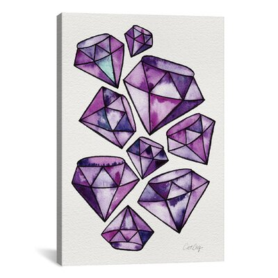 Brayden Studio 'Amethyst Tattoos Artprint' by Cat Coquillette Graphic Art on Wrapped Canvas