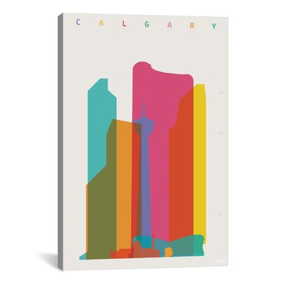 Calgary by Yoni Alter Graphic Art on Wrapped Canvas Size: 12