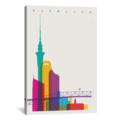 Auckland by Yoni Alter Graphic Art on Wrapped Canvas