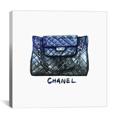 Brayden Studio Chanel Bag - Black by Rongrong DeVoe Painting Print on Wrapped Canvas