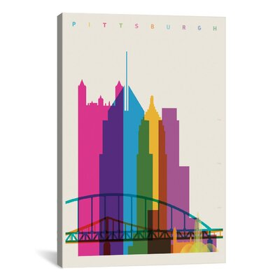 Pittsburgh by Yoni Alter Graphic Art on Wrapped Canvas