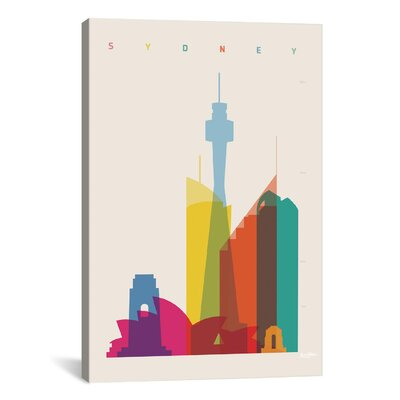 Sydney by Yoni Alter Graphic Art on Wrapped Canvas Size: 12