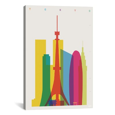 Tokyo by Yoni Alter Graphic Art on Wrapped Canvas Size: 12