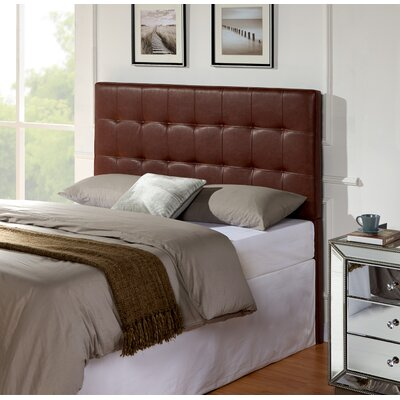 Delmar Upholstered Panel Headboard Size: King / California King, Upholstery: Brown