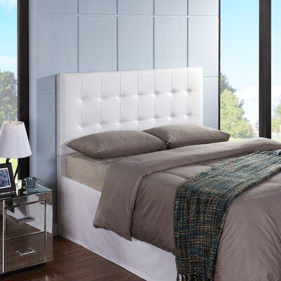 Delmar Upholstered Panel Headboard Size: King / California King, Upholstery: White