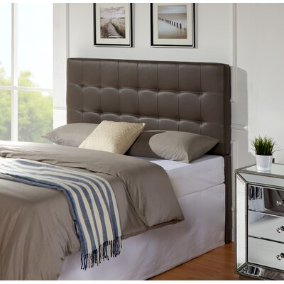 Delmar Upholstered Panel Headboard Size: Full / Queen, Upholstery: Grey