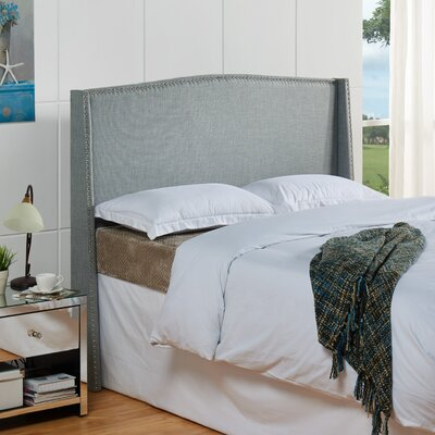 Stratford Upholstered Headboard Size: Full / Queen, Color: Sea Foam