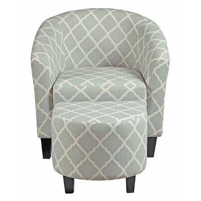 2-Piece Hannah Arm Chair & Ottoman Set