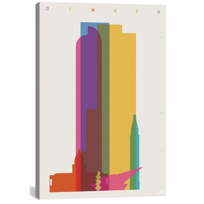 Denver by Yoni Alter Graphic Art on Wrapped Canvas Size: 12