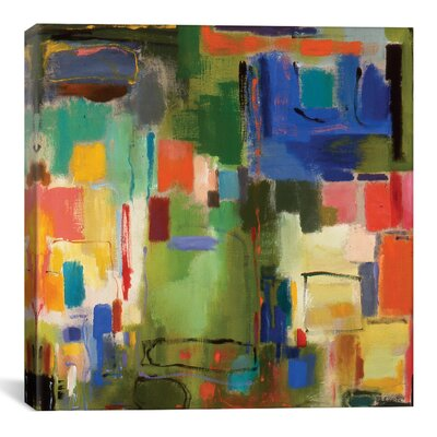 'Color Essay' by Kim Parker Painting Print on Wrapped Canvas in Green Size: 18