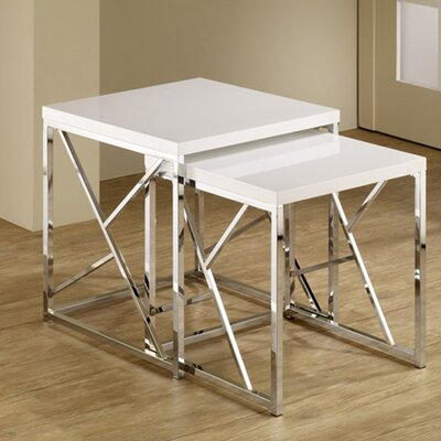 Dripping Springs 2 Piece Nesting Tables Finish: White