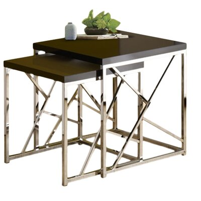 Dripping Springs 2 Piece Nesting Tables Finish: Black