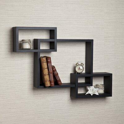 3 Intersecting Wall Shelf Finish: Black BRSD3285 25981424