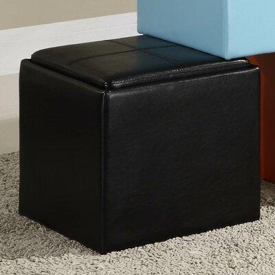 Derek 4723 Series Cube Ottoman Upholstery: Black
