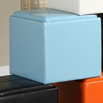 Derek 4723 Series Cube Ottoman Upholstery: Blue
