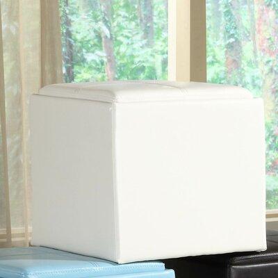 Derek 4723 Series Cube Ottoman Upholstery: White