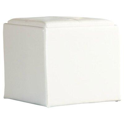 Derek 4723 Series Storage Ottoman Upholstery: White