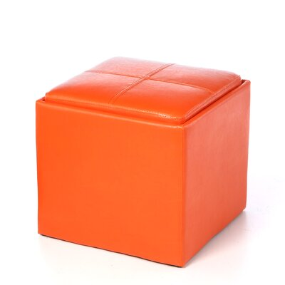 Derek 4723 Series Cube Ottoman Upholstery: Orange
