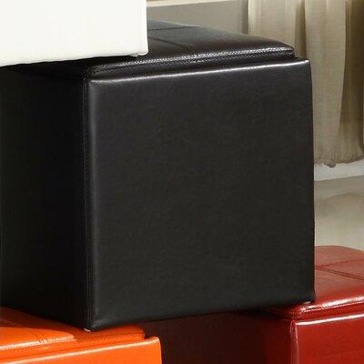 Derek 4723 Series Cube Ottoman Upholstery: Brown