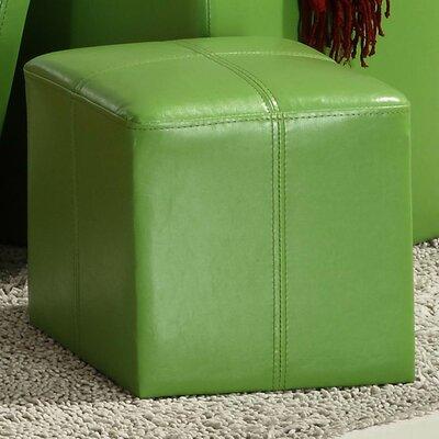 Derek 4723 Series Cube Ottoman Upholstery: Green
