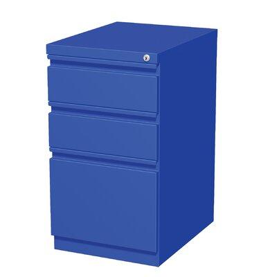Brayden Studio Drew 3 Drawer Mobile Pedestal File Cabinet
