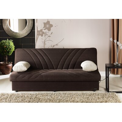 Justice Three Seat Sleeper Sofa Upholstery: Natural Brown / Beige