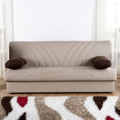 Justice Three Seat Sleeper Sofa Upholstery: Natural Cream / Brown