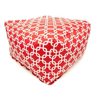 Danko Bean Bag Ottoman Upholstery: Red