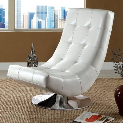 Marko Swivel Lounge Chair Color: White