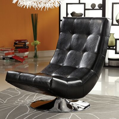 Ober Swivel Lounge Chair Upholstery: Black