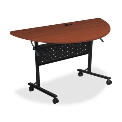 Ehmann Flipper Training Table with Wheels Tabletop Finish: Cherry, Size: 5 H x 29.5 W x 51.2 D