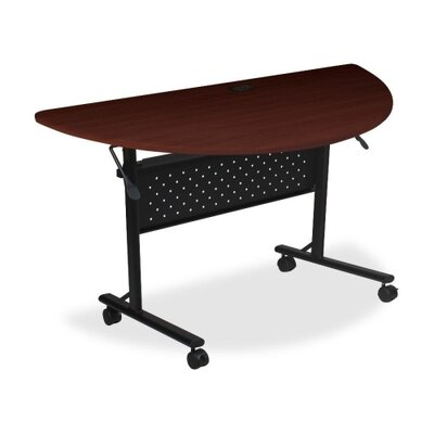Ehmann Flipper Training Table with Wheels Tabletop Finish: Mahogany, Size: 5 H x 29.5 W x 51.2 D