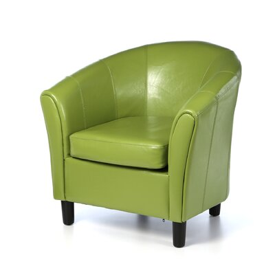 Karp Barrel Chair Upholstery: Lime Green