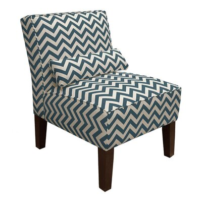 Thurston Slipper Chair Upholstery: Zig Zag  Titan Birch