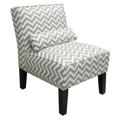 Thurston Slipper Chair Upholstery: Zig Zag  Ash/White