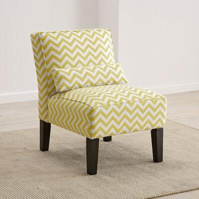 Cloverdale Upholstered Slipper Chair Color: Yellow Slub